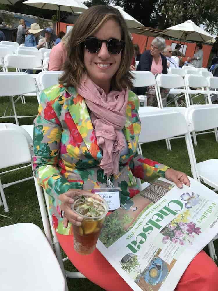 The perfect day at the Chelsea flower show - sunnies, pimms, and the paper. Join us!