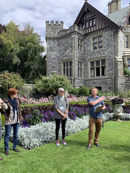 Guided tour at Hately Castle in British Columbia
