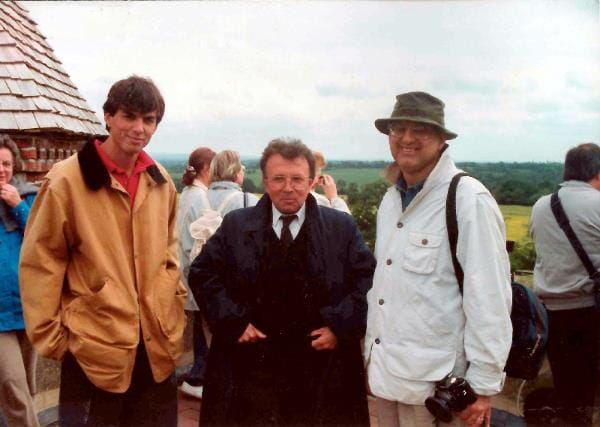 John Jr, a lovely coach driver, and John Sr at Great Dixter in 1994