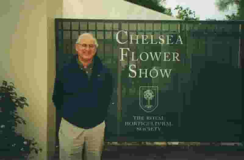 Previous Huron owner at Chelsea Flower Show