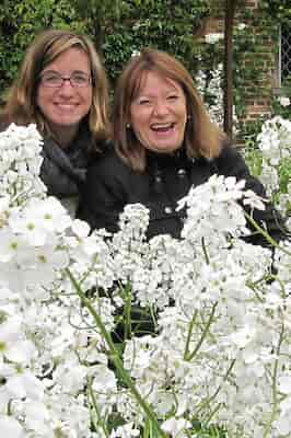 White garden at Sissinghurst with Katie and Valery