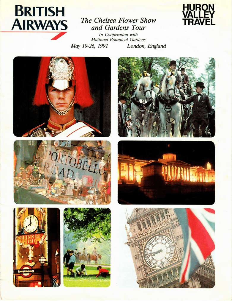 We revamp our Chelsea Flower Show mailing folders from time to time - this version is from 1991