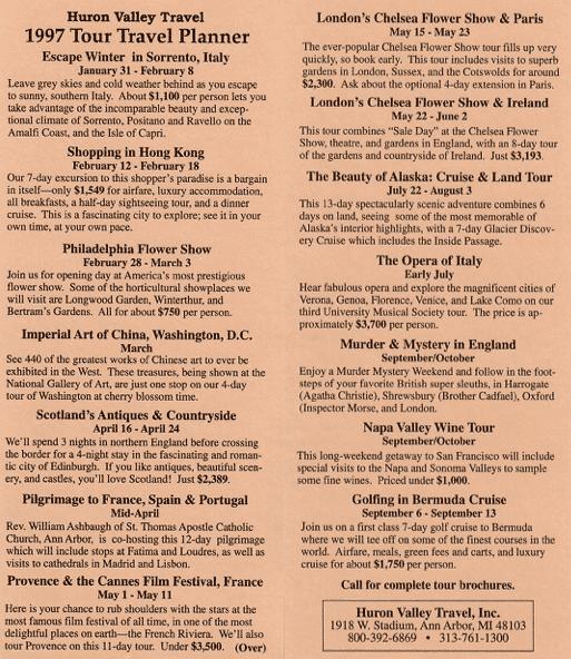 1997 Garden Tour Planning Brochure
