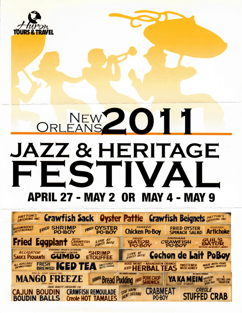 A fun cover from our 2011 Jazz Fest tour in New Orleans (look at all that great food!)