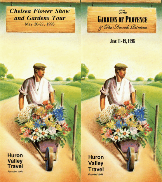 A tale of two garden tours (we bought an absolute TON of these brochure blanks)